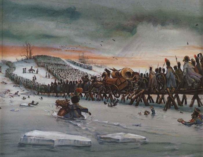 картинка отступление армии наполеона деревянных