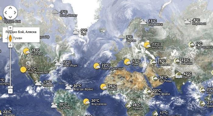 прогноз погоды в россии на карте чашки